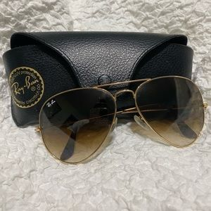Gold Authentic Ray Ban Aviators